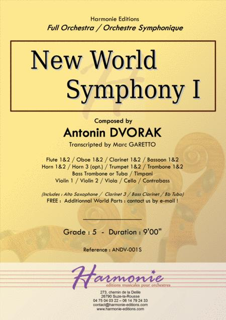 New World Symphony - 1st Movement - Antonin DVORAK - Full Orchestra - transcripted by Marc Garetto