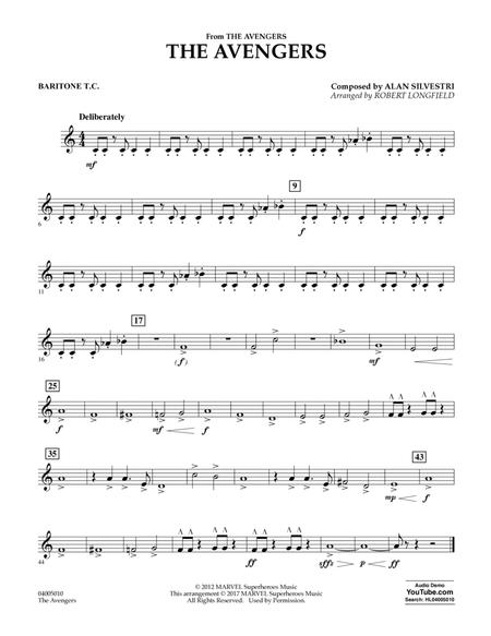 Download The Avengers - Baritone T C  Sheet Music By Alan