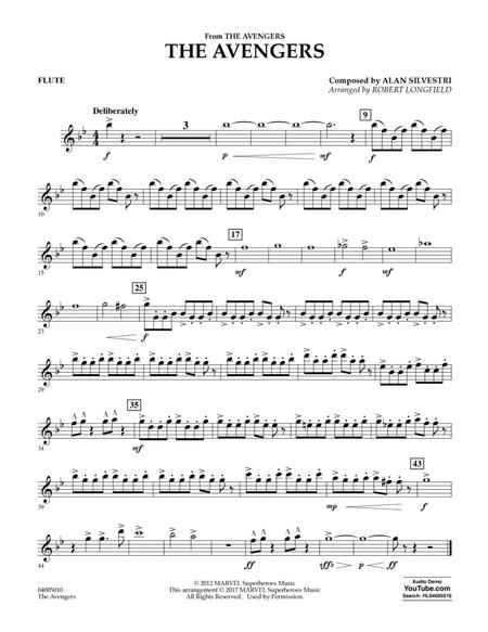 Download The Avengers - Flute Sheet Music By Alan Silvestri