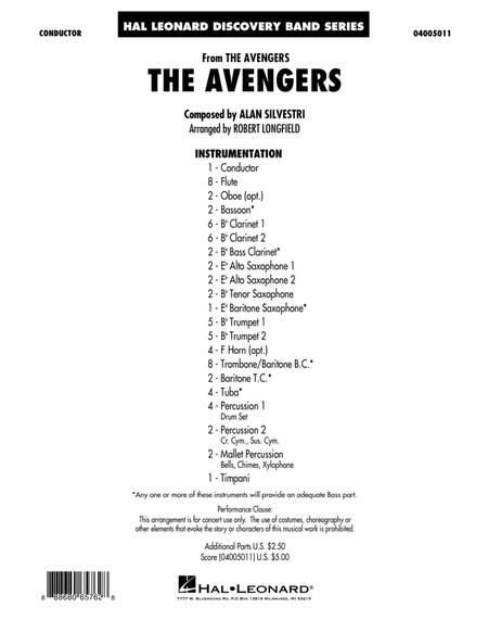 The Avengers - Conductor Score (Full Score)