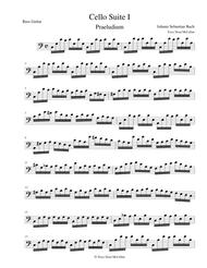 Download Bach Cello Suite No1 Prelude For Bass Guitar Sheet
