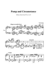 E. Elgar - Pomp and Circumstance - March Op.39 #1 - piano solo