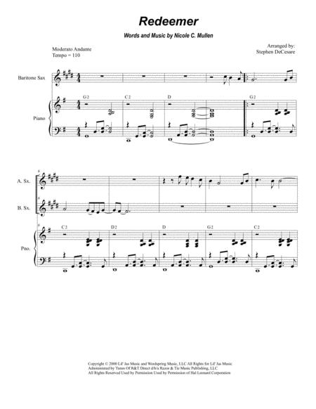 Redeemer (for Saxophone Quartet and Piano)