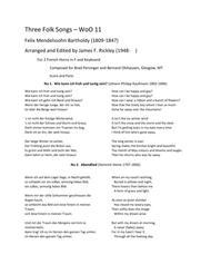 Three Folk Songs - WoO 11