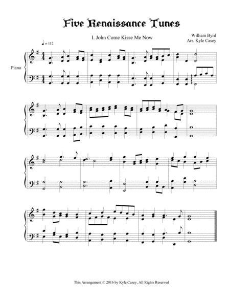 Five Renaissance Songs for Intermediate Piano