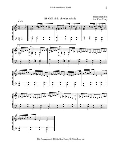 Preview Five Renaissance Songs For Intermediate Piano By