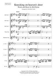 Knockin' On Heaven's Door for Saxophone ensemble