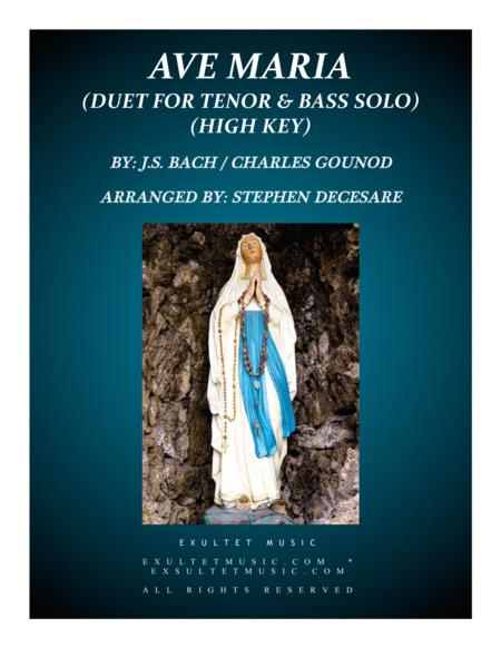 Ave Maria (Duet for Tenor and Bass Solo - High Key)