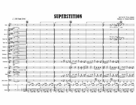 Superstition - Stevie Wonder - Arranged for Jazz Band feat. Voice and/or Tenor Sax