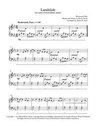 Landslide for early intermediate piano