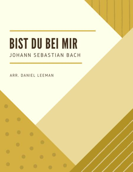 Bist Du Bei Mir for Cello & Piano