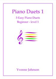5 Easy Piano Duets Beginner - Level 1