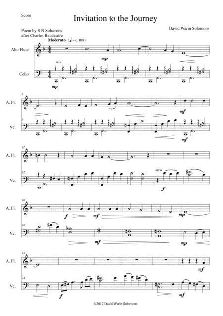 Invitation au Voyage (Invitation to the journey) for alto flute and cello
