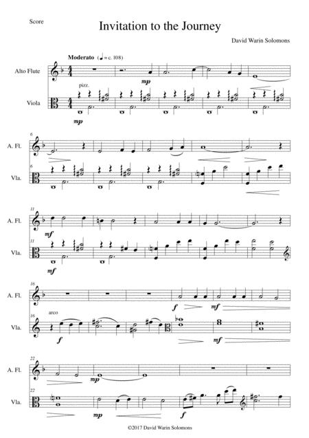 Invitation au Voyage (Invitation to the journey) for alto flute and viola