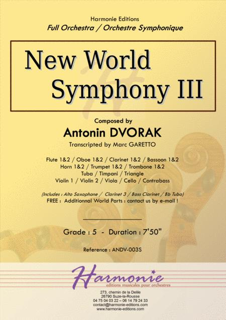 New World Symphony - 3rd Movement - Antonin DVORAK - Full Orchestra - transcripted by Marc Garetto