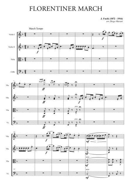 Florentiner March for String Quartet