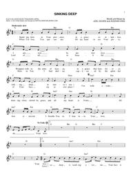 Sinking Deep By Digital Sheet Music For Fakebook Download
