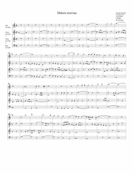 Dulces exuviae (arrangement for 4 recorders)