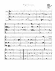 Bergerette savoyene (arrangement for 4 recorders)