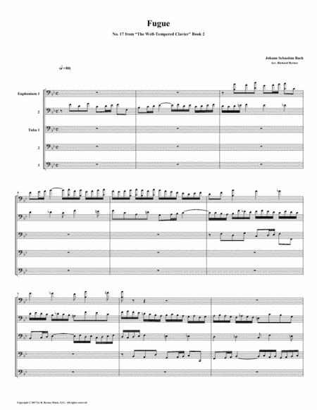 Fugue 17 from Well-Tempered Clavier, Book 2 (Euphonium-Tuba Quintet)