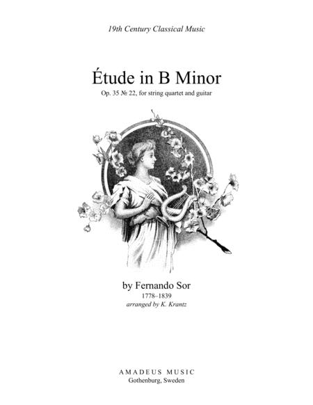 Étude (study) in B Minor Op. 35 No. 22 for guitar and string quartet