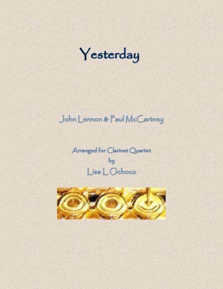 Yesterday for Clarinet Quartet