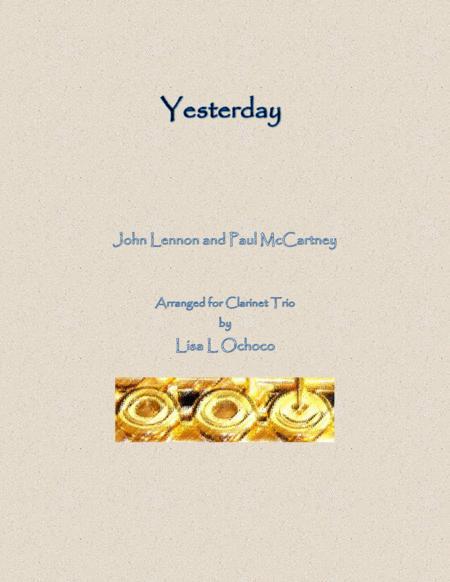 Yesterday for Clarinet Trio