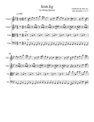 Irish Jig, for String Quartet