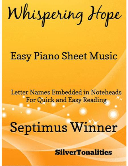 Whispering Hope Easy Piano Sheet Music
