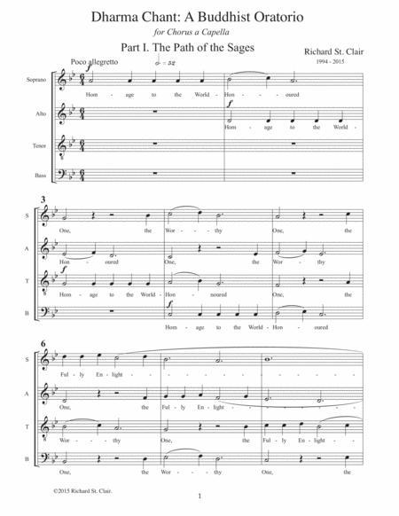 Dharma Chant: A Buddhist Oratorio in Three Parts for Mixed Chorus SATB a Capella