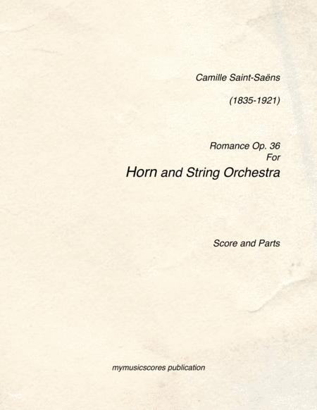Romance Op.36 for Horn and String Orchestra