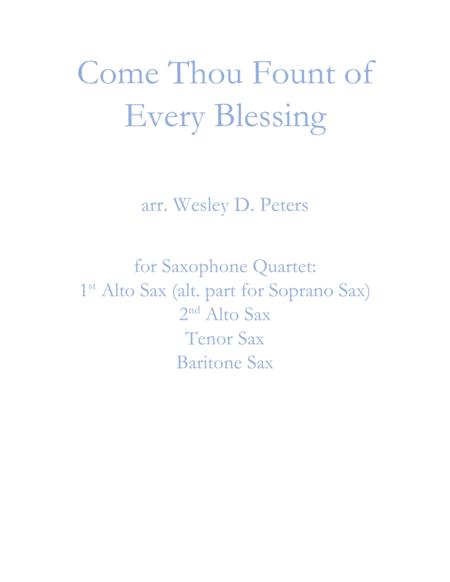 Come Thou Fount of Every Blessing (Sax Quartet)