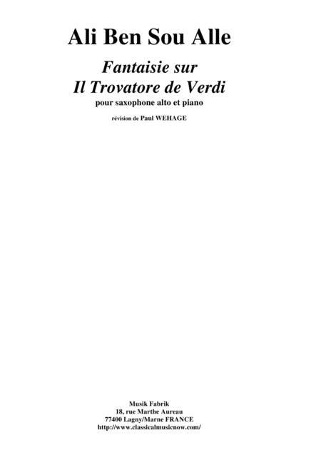 Ali Ben Sou Alle: Fantaisie sur Il Trovatore de Verdi for alto saxophone and piano