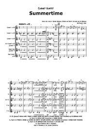 Summertime - Gershwin - Ballad - Clarinet Quartet