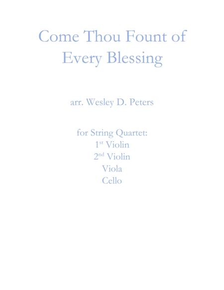 Come Thou Fount of Every Blessing (String Quartet)