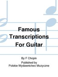 Famous Transcriptions For Guitar