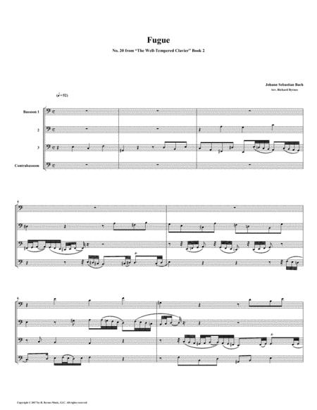 Fugue 20 from Well-Tempered Clavier, Book 2 (Bassoon Quartet)