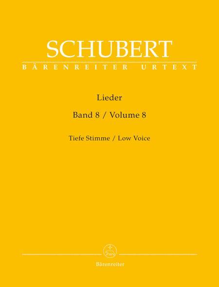 Lieder, Volume 8 (Low Voice)