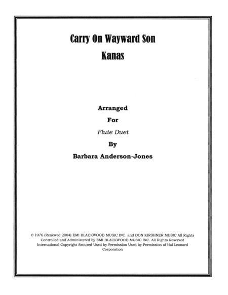 Carry On Wayward Son (Flute Duet)