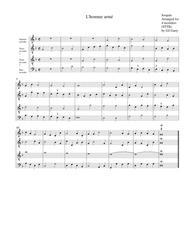 L'homme armé (arrangement for 4 recorders)