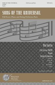 Song of the Universal (SATB - Full Score and Parts)