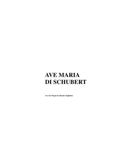 AVE MARIA by SCHUBERT - Arr. for Organ - Arpeggiated accompaniment