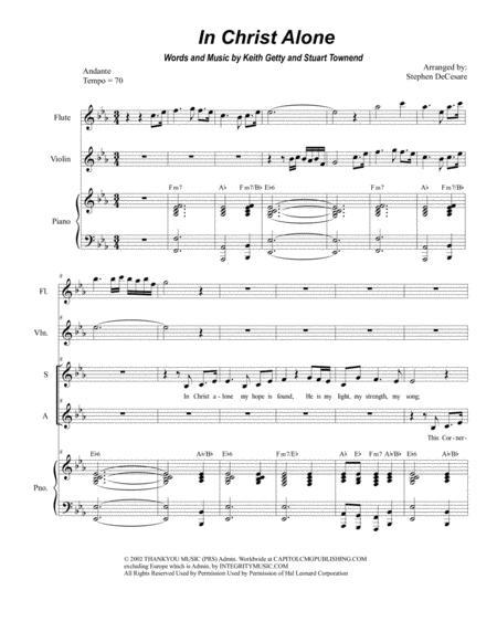 In Christ Alone (Duet for Soprano and Alto Solo)