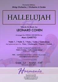 HALLELUJAH - Leonard COHEN - Arranged for String Orchestra (& optionnal Percussions) by Marc GARETTO