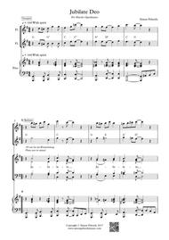 Jubilate Deo, rhythmical gospel setting for SATB, piano & optional 2 flutes