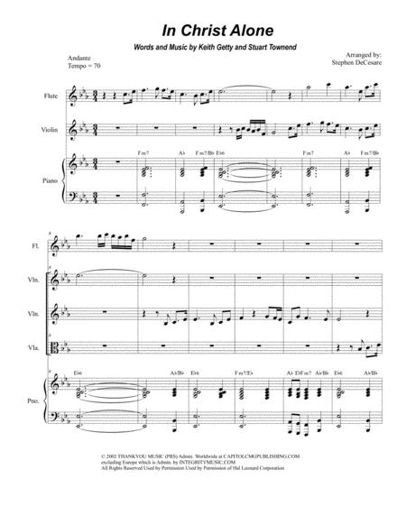 Download In Christ Alone Duet For Violin And Viola Sheet Music By