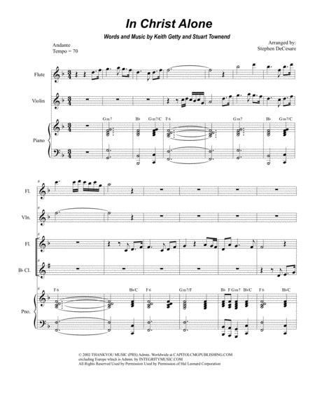 In Christ Alone (Duet for Flute and Bb-Clarinet)