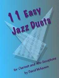 11 Easy Jazz Duets for Clarinet and Alto Saxophone