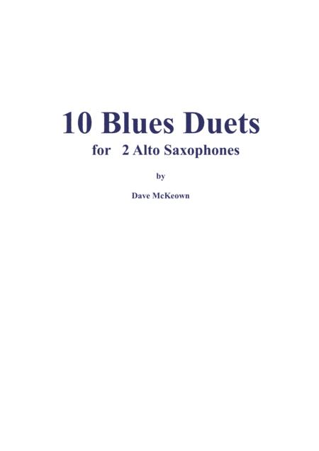 10 Blues Duets for Alto Saxophone