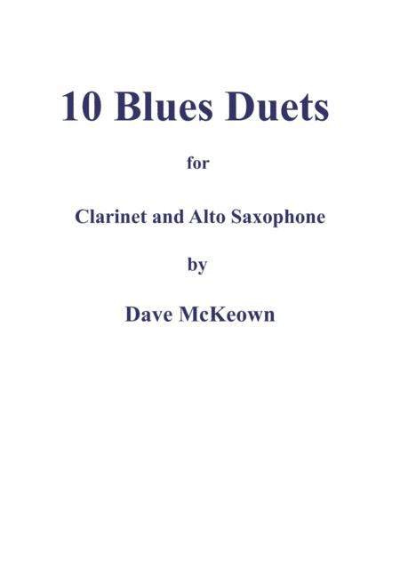 10 Blues Duets for Clarinet and Alto Saxophone